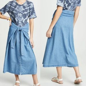 Levi's Made Crafted Comfort Denim Field Wrap Skirt